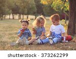 fashionable babies outdoors | Shutterstock . vector #373262299
