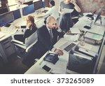business team busy working... | Shutterstock . vector #373265089