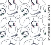 seamless pattern with music... | Shutterstock .eps vector #373272985