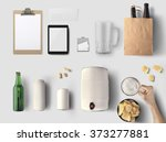 beer maker identity design mock ... | Shutterstock . vector #373277881