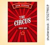 vector circus poster | Shutterstock .eps vector #373279819