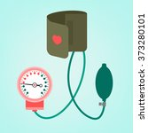 blood pressure measuring | Shutterstock .eps vector #373280101