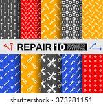 ten seamless patterns with... | Shutterstock .eps vector #373281151
