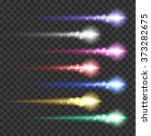light effect colorful comets... | Shutterstock .eps vector #373282675