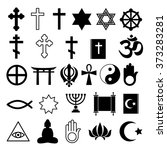 assorted religions symbols... | Shutterstock .eps vector #373283281