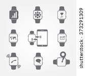 a set of electronic watches | Shutterstock .eps vector #373291309