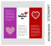 valentine day love borchure... | Shutterstock .eps vector #373296997