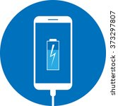 icon battery in the phone  is... | Shutterstock .eps vector #373297807