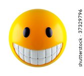 yellow smiley face  3d render  | Shutterstock . vector #37329796
