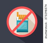 no smoking. flat icon | Shutterstock .eps vector #373298374