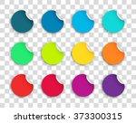 circle paper sticker note set...   Shutterstock .eps vector #373300315