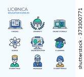 set of modern vector education... | Shutterstock .eps vector #373300771