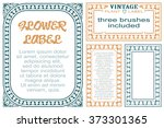 vector flowers vintage labels...   Shutterstock .eps vector #373301365