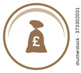 money bag vector icon. franc