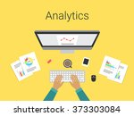 flat design modern vector... | Shutterstock .eps vector #373303084