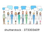 group medial doctors team work... | Shutterstock .eps vector #373303609