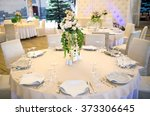 table set for wedding or... | Shutterstock . vector #373306645