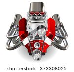 hot rod engine | Shutterstock .eps vector #373308025