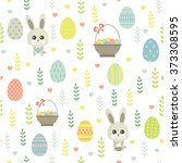Easter. Vector Seamless Patter...