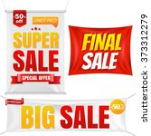 sale banners with gradient mesh ... | Shutterstock .eps vector #373312279