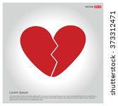 valentines heart. vector... | Shutterstock .eps vector #373312471