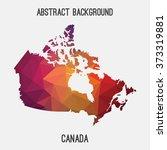 canada map in geometric... | Shutterstock .eps vector #373319881