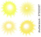 sunburst abstract vector set. | Shutterstock .eps vector #37332337