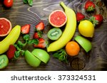 eating healthy food   healthy... | Shutterstock . vector #373324531