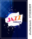 vertical music jazz poster with ... | Shutterstock .eps vector #373330309