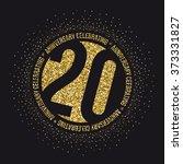 twenty years anniversary... | Shutterstock .eps vector #373331827