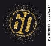 sixty years anniversary... | Shutterstock .eps vector #373331857