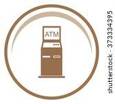 atm vector icon. | Shutterstock .eps vector #373334395