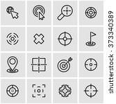 Vector Line Target Icon Set.