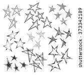 vector set of group of stars ... | Shutterstock .eps vector #373342189