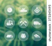 logging  forestry equipment... | Shutterstock .eps vector #373345495