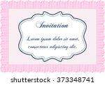 vintage invitation template.... | Shutterstock .eps vector #373348741