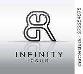 elegant minimal letter symbol.... | Shutterstock .eps vector #373354075