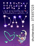 card for a valentine day with... | Shutterstock .eps vector #373357225