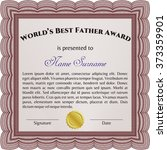 world's best dad award template.... | Shutterstock .eps vector #373359901