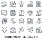 Business and finance icon set suitable for info graphics, websites and print media. Black and white flat line icons. | Shutterstock vector #373362511