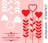 illustrations of valentines day ... | Shutterstock . vector #373367617