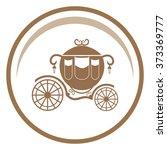 carriage vector icon. | Shutterstock .eps vector #373369777