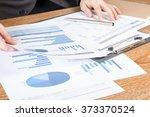 business man analyzing graph... | Shutterstock . vector #373370524