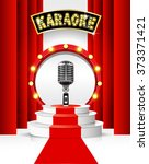 karaoke party background with... | Shutterstock .eps vector #373371421