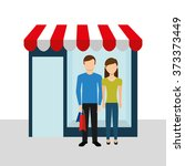 family shopping design  vector... | Shutterstock .eps vector #373373449