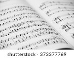 Closeup Of Sheet Music. Musica...