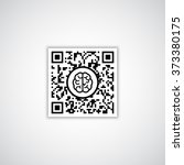 qr code with human brain icon | Shutterstock .eps vector #373380175