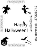 spooky illustration with... | Shutterstock . vector #37338742