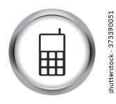 smart phone simple icon on...