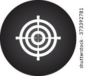 target aim simple icon on... | Shutterstock .eps vector #373392781